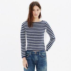 Madewell Shoulder Zip Stripe Sweater XS